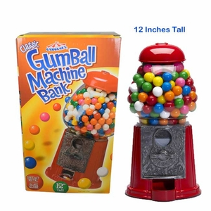 Gumball Machine & Bank 12""