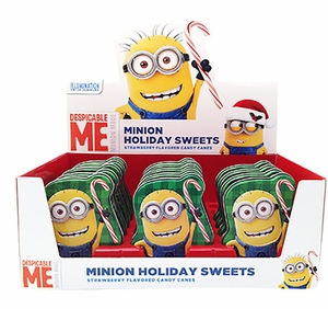 Minion Holiday Tins Filled With Mini Candy Canes 18 Count