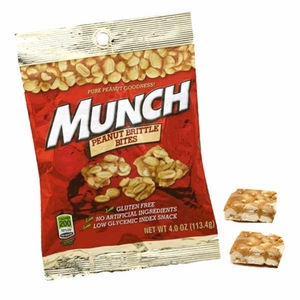 Munch Peanut Brittle Bites 4oz Bag