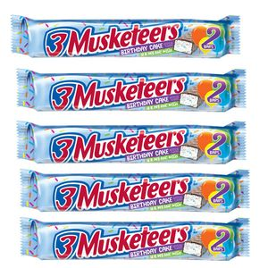 3 Musketeers Birthday Cake Candy Bars 24 Count