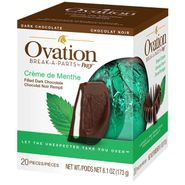 Ovation Creme De Menthe Dark Chocolate 6.17oz Ball