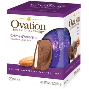 Ovation Creme De Amaretto Milk Chocolate 6.17oz Ball