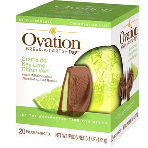 Ovation Creme De Key Lime Milk Chocolate 6.17oz Ball