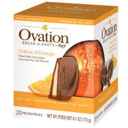 Ovation Creme De Orange Milk Chocolate 6.17oz Ball