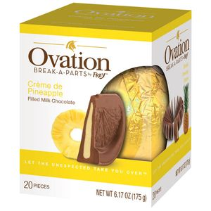 Ovation Creme De Pineapple Milk Chocolate 6.17oz Ball