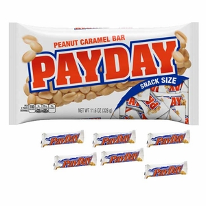 PayDay Snack Size Candy Bars 11.6oz Bag