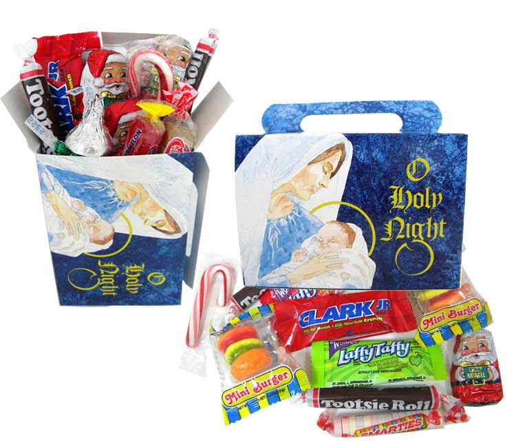 Christmas Candy Gifts.Personal Size Christmas Candy Treat Box Children Religious
