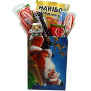 Personal Size Christmas Candy Treat Box for Children - Santa