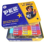 Pez Retro Tin With Candy & Dispenser