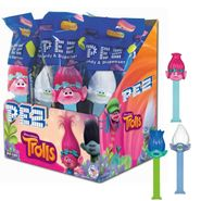 Pez Trolls Dispenser & Candy 12 Count