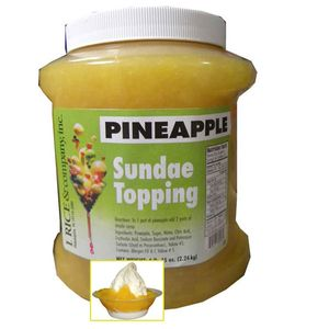 Pineapple Sundae Topping 4.15lb Jar