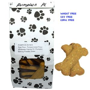 Poocheychef Pumpkin Dog Bones 22 Count (Wheat,Soy,Corn Free)