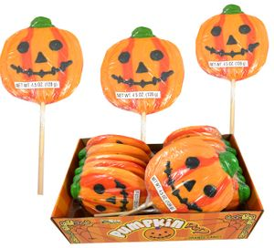 Pumpkin Lollipops Large 12 Count