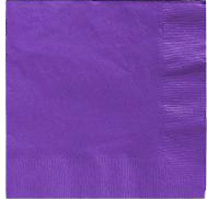Purple Lunch Napkins 50 Count