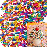 Rainbow Sprinkles Topping 10lb Box