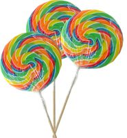 Rainbow Swirly Lollipop Jumbo Size