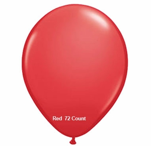 "Red Latex Balloons 11"" 72 Count Bag"