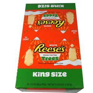 "Reese's White Chocolate ""King"" Size Trees 24 Count"
