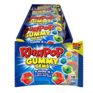 Ring Pop Gummy Gems 16 Count
