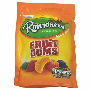 Rowntree Fruit Gums 5.3oz Bag