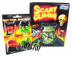 Scary Gummy Halloween Creatures 18 Packs (72 Monsters)