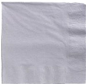 Silver Lunch Napkins 50 Count