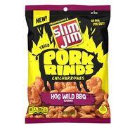 Slim Jim Pork Rinds Hog BBQ 2oz Bag