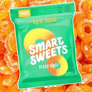 Smart Sweets Gummi Peach Rings 1.8oz Bag