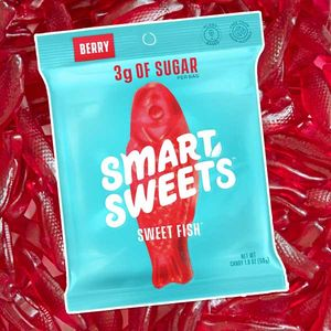 Smart Sweets Gummi Red Fish 1.8oz Bag