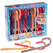 Soda Pop Candy Canes Assorted 12 Count