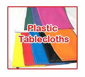 Solid Color Plastic Tablecloths