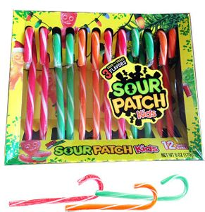 Sour Patch Kids Candy Canes 12 Count