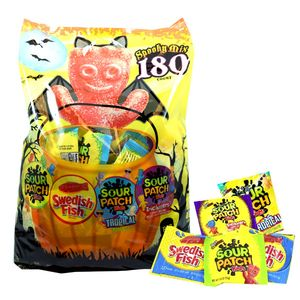 Sour Patch - Swedish Fish Halloween 180 Count