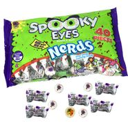 Spooky Bubble Gum Eyeballs With Nerds 40 Count