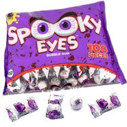 Spooky Eyeballs Bubble Gum Wrapped 100 Count