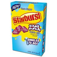 Starburst Singles To Go Zero Sugar Drink Mix Fruit Punch 6 CT