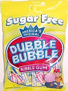 Sugar Free Dubble Bubble Bubble Gum 3.25oz Bag
