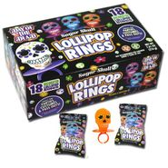 Sugar Skull Ring Pops 18 Count