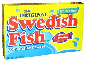 Swedish Red Gummy Fish 3.1oz Box
