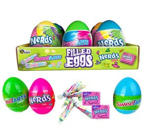 Sweetart Nerds Filled Eggs 12 Count