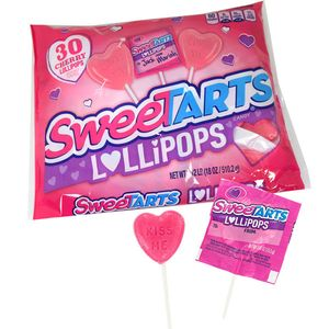 SweeTart Valentine's Day Pops 30 Count