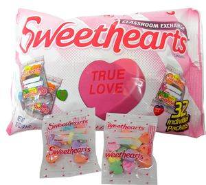 Sweetheart Conversation Hearts Singles 32 Count Bag
