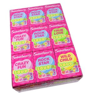 """Sweethearts """"Sour"""" Tiny Hearts 36 Count"""