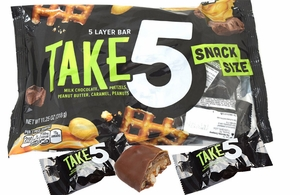 Take Five Snack Size Candy Bars 14 Count