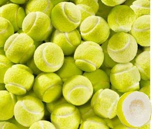 Tennis Ball Bubble Gum Balls 100 Count