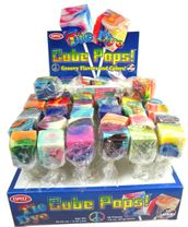 Tie Dye Cube Lollipops 48 Count