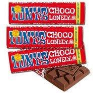 Tony's Chocolonely Milk Choc Candy Bars 35 Count