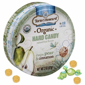 Torie & Howard Organic Pear & Cinnamon Hard Candies 8 Count