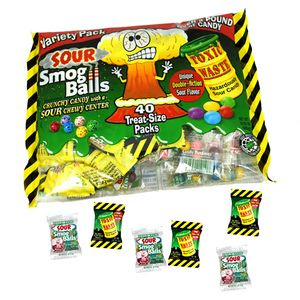 Toxic Waste Sour Smog Balls 40 Ct Bag