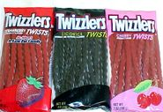 Twizzler Strawberry or Black Licorice  7oz Peg Bag